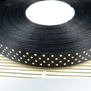 Satin ribbon, black, 1.5cm x 2m, 1 piece, (SD178)